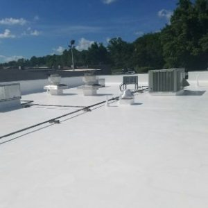 WHITE SILICONE ROOF COATING